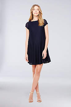 Short Sheath Cap Sleeves Cocktail and Party Dress - Ingrid and Isabel