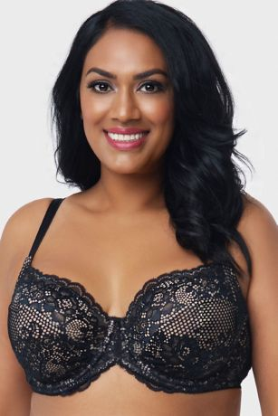 Curvy Couture Beautiful Bliss Lace Unlined Bra