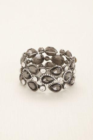 Pear Shaped Stones Pave Rhinestone Bracelet