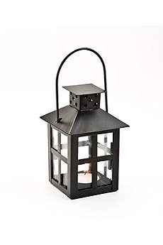 Black Mini-Lantern Tea Light Holder