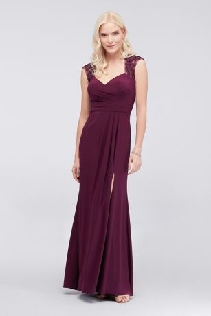 Piped Jersey Sheath Dress with Illusion Back
