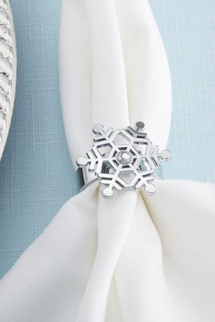 Rhinestone Snowflake Napkin Rings