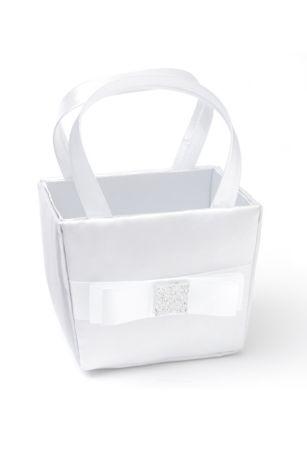Simple Bow Flower Girl Basket
