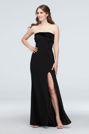 Long Sheath Strapless Dress - Blondie Nites