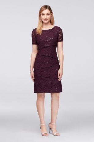 Short Sheath Short Sleeves Dress - Ronni Nicole