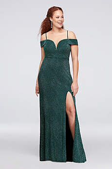 Long Sheath Off the Shoulder Formal Dresses Dress - City Triangles