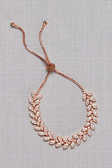 Leafy Vine Cubic Zirconia Adjustable Bracelet