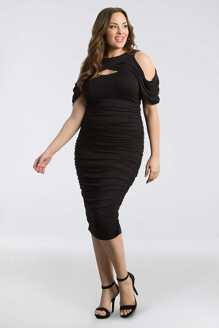 5f481d956 Short Sheath Off the Shoulder Dress - Kiyonna. Short Sheath Off the  Shoulder Dress - Kiyonna · Kiyonna. Bianca Ruched Plus Size Dress