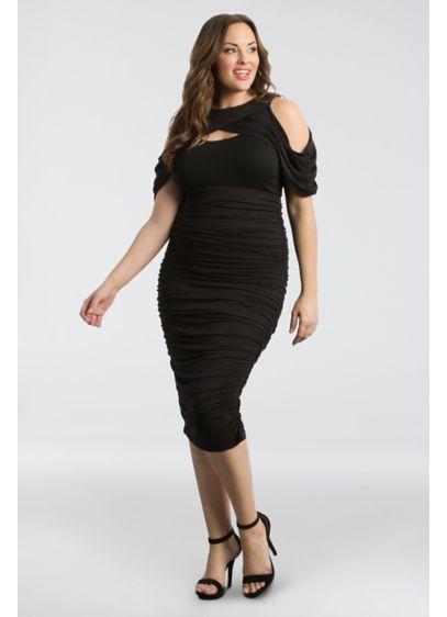 Bianca Ruched Plus Size Dress Davids Bridal