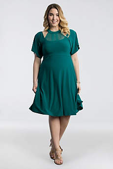 Short Sheath Elbow Sleeves Cocktail and Party Dress - Kiyonna