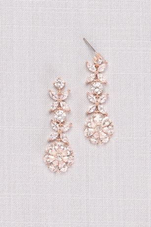 Crystal Flower Vine Earrings