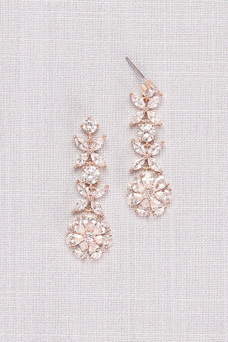 dca8d52e2 Crystal Flower Vine Earrings. Crystal Flower Vine Earrings · David's Bridal