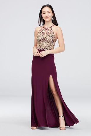 Long Sheath Halter Dress - Blondie Nites
