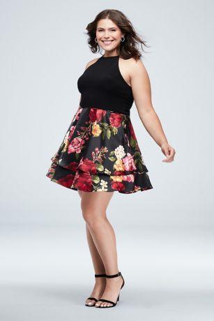Short Ballgown Halter Dress - Blondie Nites