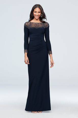 Long Sheath Long Sleeves Dress - Xscape