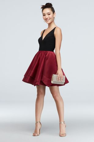 Short Ballgown Spaghetti Strap Dress - Blondie Nites