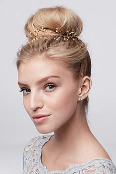 Hand-Wired Blush Crystal Hair Vine