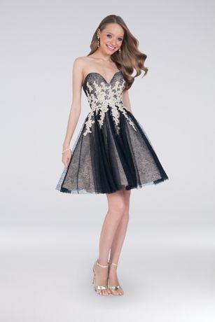 Short Ballgown Strapless Dress - Terani Couture