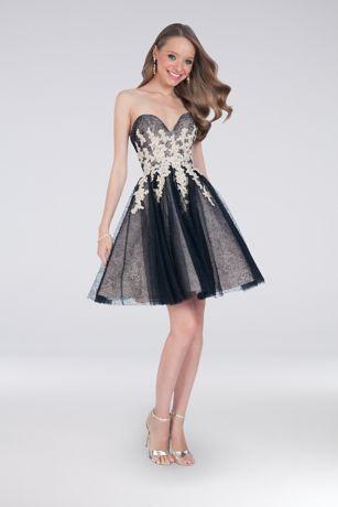 Short Ballgown Strapless Dress -