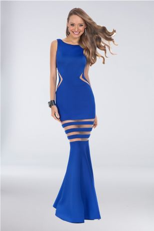 Long Mermaid/ Trumpet Tank Dress - Terani Couture