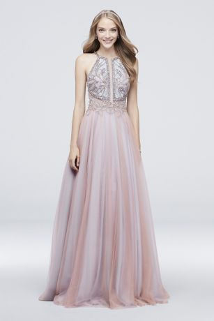 Pink Prom Dresses Blush Light Hot Pink Gowns Davids Bridal