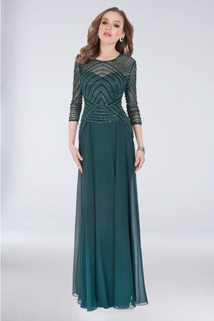 Long Sheath Long Sleeves Dress -