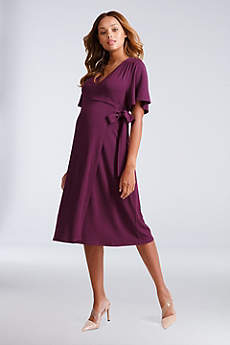 Tea Length A-Line Short Sleeves Cocktail and Party Dress - Ingrid and Isabel