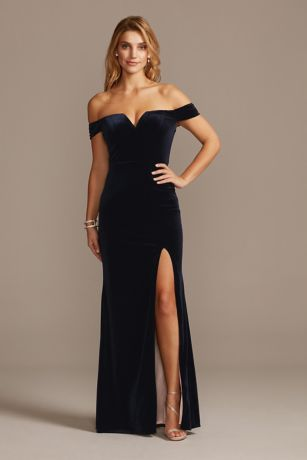 Velvet Dresses Jumpsuits And Formal Gowns David S Bridal