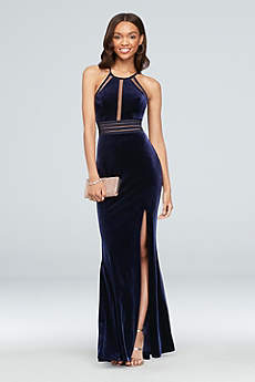 Long Sheath Halter Formal Dresses Dress - City Triangles