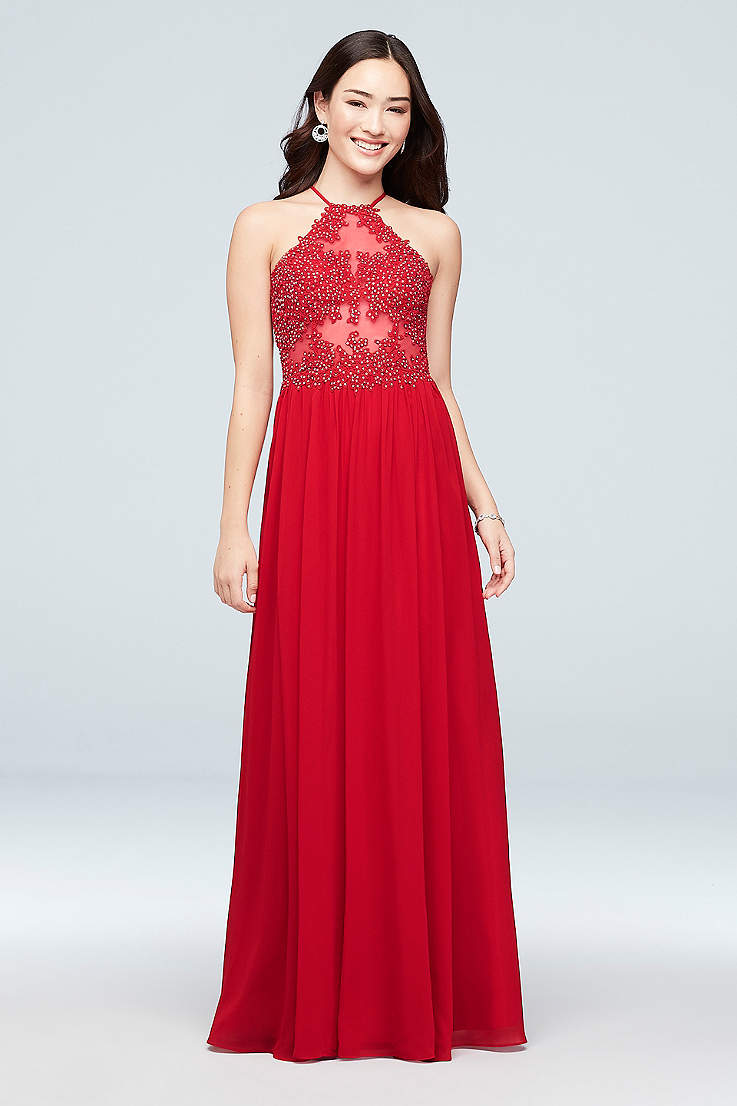 c0c0616219e0 Long Prom Dresses and Gowns for 2019 in All Colors   David's Bridal