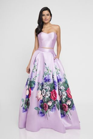 Long Ballgown Strapless Dress - Terani Couture