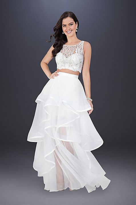 Two-Piece Wedding Dress with Embroidered Top | David\'s Bridal
