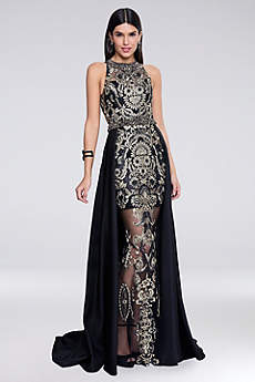 Long Sheath Halter Formal Dresses Dress - Terani Couture