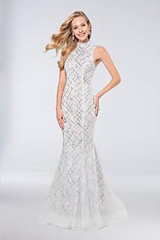 Long Mermaid/ Trumpet Halter Formal Dresses Dress -