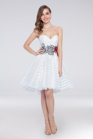 4cbfdba1132 Short Ballgown Strapless Dress - Terani Couture