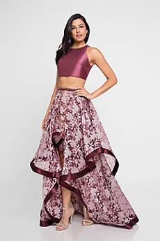 High Low Ballgown Halter Formal Dresses Dress Terani Couture