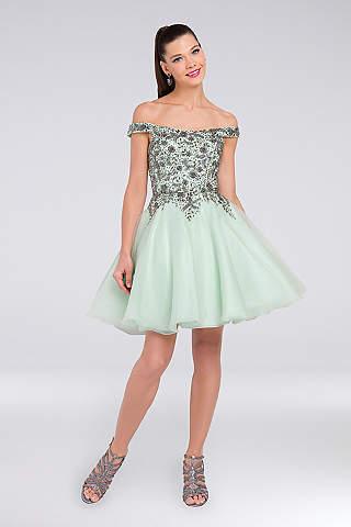 Off the Shoulder Prom Dresses - Cold-Shoulder Gowns | David\'s Bridal