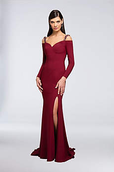Long Mermaid/ Trumpet Off the Shoulder Formal Dresses Dress - Terani Couture