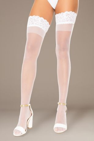 Coquette Silicone Stay-Up Thigh-High Stockings