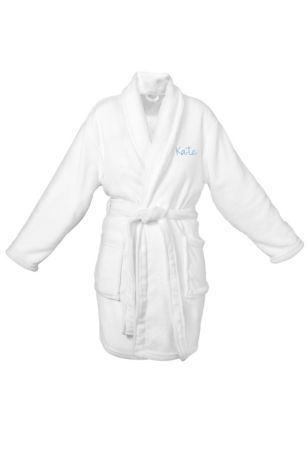 DB Exclusive Personalized White Plush Robe