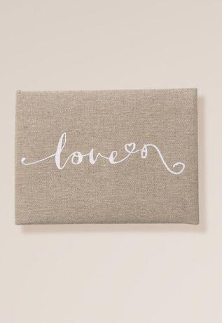 Love Script Linen Guest Book