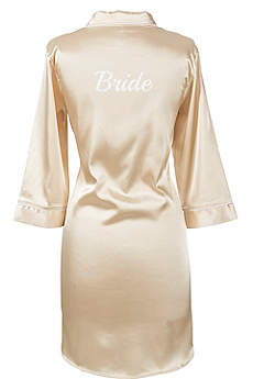 Glitter Script Bride Satin Night Shirt