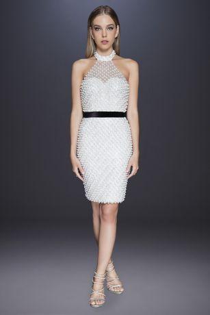 Short Halter Dress - Terani Couture