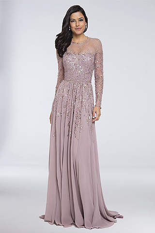 K'Mich Weddings - wedding planning - mother of the bride dress - Long A-Line Long Sleeves Formal Dresses Dress - Terani Couture