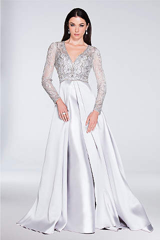 Long Sleeve Prom Dresses - 3/4 and Full, Lace Sleeves | David\'s Bridal
