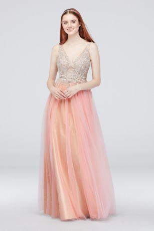 8bb954fce89 Long Ballgown Tank Dress - Glamour by Terani