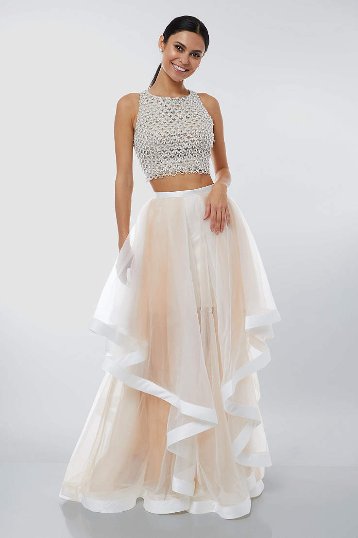 62abdbd03e9 Two-Piece Prom Dresses & 2 Piece Crop Top Prom Dresses | David's Bridal