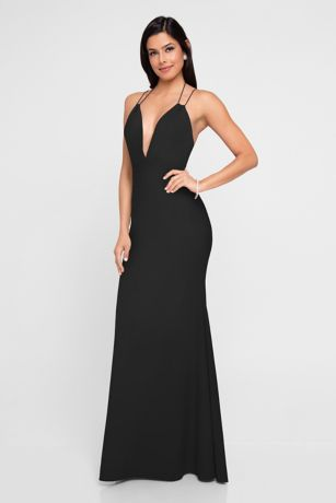 Long Sheath Spaghetti Strap Dress - Terani Couture