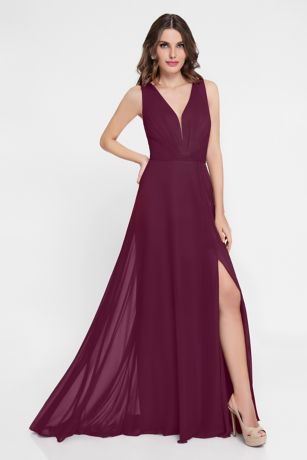 Long A-Line Dress - Terani Couture