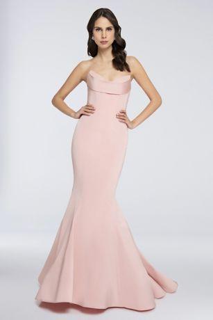 Long Mermaid/ Trumpet Strapless Dress - Terani Couture
